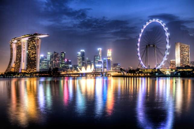 Singapore City Night Image Pictures | Getty Images